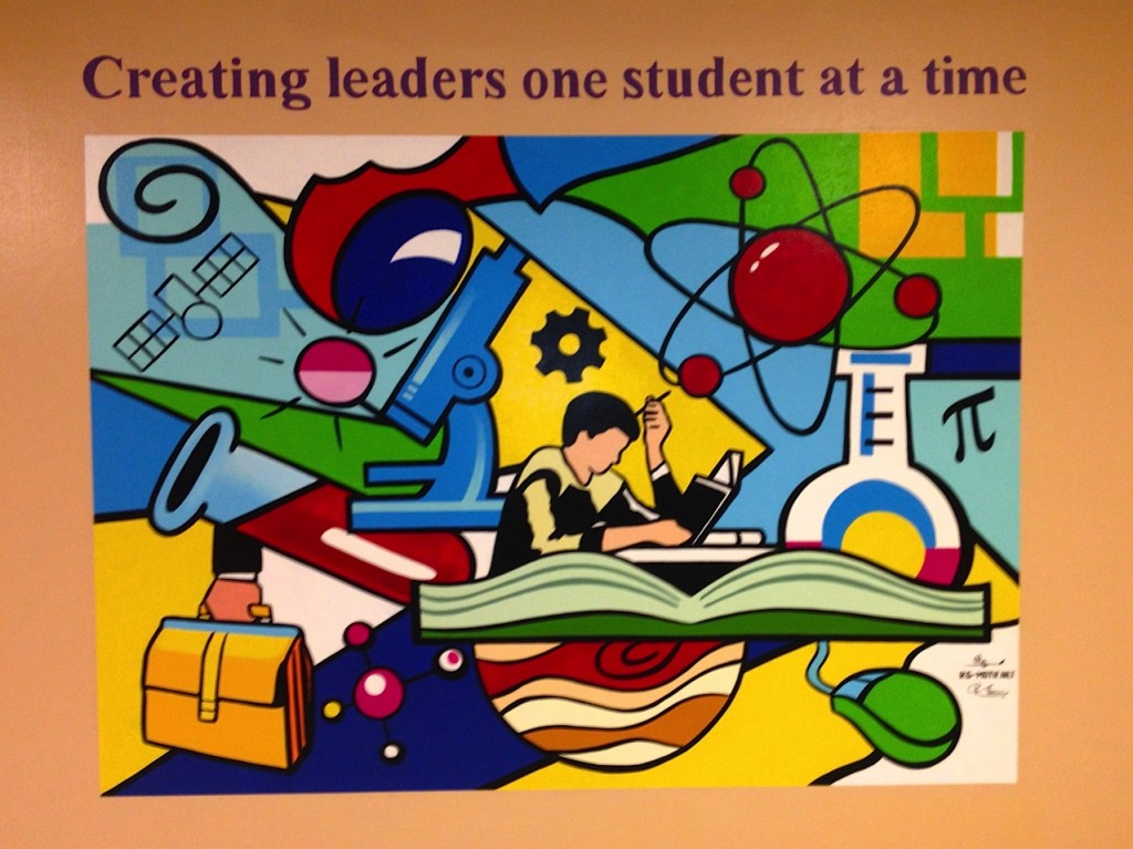 Mural creating leaders one student at a time