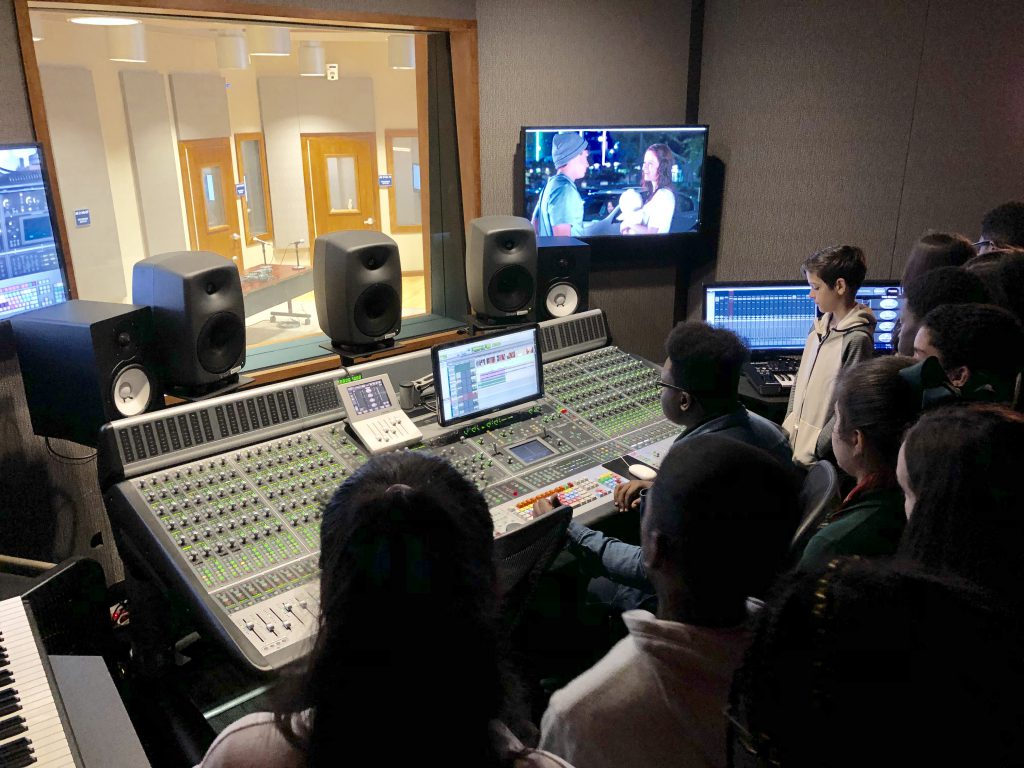 Magnet Students visiting the MDC North Campus Studios